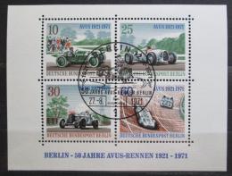 Poštovní známky Západní Berlín 1971 Závodní auta Mi# Block 3 - zvětšit obrázek