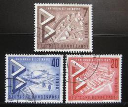 Poštovní známky Západní Berlín 1957 Výstava INTERBAU Mi# 160-62 - zvětšit obrázek