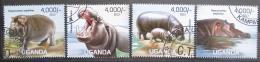 Poštovní známky Uganda 2013 Hroši Mi# 3040-43 Kat 19€ - zvětšit obrázek