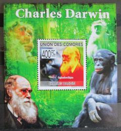 Poštovní známka Komory 2009 Charles Darwin Mi# 2228 Block - zvětšit obrázek