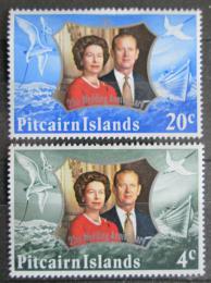 Poštovní známky Pitcairnovy ostrovy 1972 Královský pár Mi# 127-28 - zvětšit obrázek