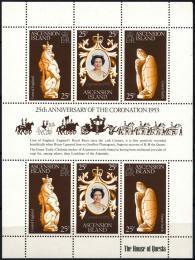 Poštovní známky Ascension 1978 Korunovace Alžběty II., 25. výročí Mi# 229-31 - zvětšit obrázek