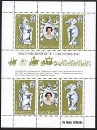 Poštovní známky Svazijsko 1978 Korunovace Alžběty II., 25. výročí Mi# 293-95 - zvětšit obrázek
