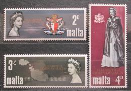 Poštovní známky Malta 1967 Návštěva královny Alžběty II. Mi# 367-69 - zvětšit obrázek