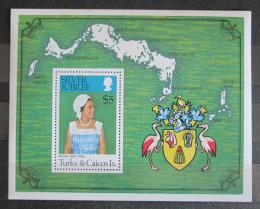 Poštovní známka Turks a Caicos 1977 Královna Alžběta II. Mi# Block 7 - zvětšit obrázek