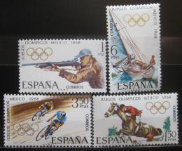Poštovní známky Španělsko 1968 LOH Mexico City Mi# 1777-80 - zvětšit obrázek