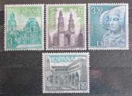 Poštovní známky Španělsko 1969 Pamětihodnosti Mi# 1825-28 - zvětšit obrázek