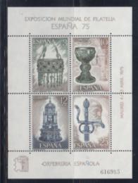 Poštovní známky Španělsko 1975 Výstava ESPANA Mi# Block 20 Kat 8€ - zvětšit obrázek
