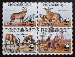 Poštovní známky Mosambik 2010 Antilopa koňská, WWF Mi# 3658-61 - zvětšit obrázek