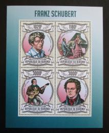 Poštovní známky Burundi 2013 Franz Schubert, skladatel Mi# 3023-26 Kat 9.90€ - zvětšit obrázek