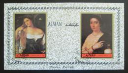 Poštovní známky Adžmán 1972 Umění, tizian neperf. Mi# Block 465 B - zvětšit obrázek