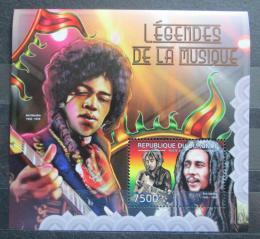 Poštovní známka Burundi 2012 Jimi Hendrix a Bob Marley Mi# Block 264 Kat 9€ - zvětšit obrázek