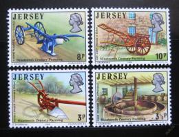 Poštovní známky Jersey 1975 Farmářské nářadí Mi# 114-17 - zvětšit obrázek