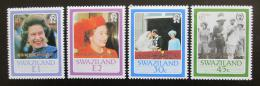 Poštovní známky Svazijsko 1987 Královská svatba přetisk Mi# 536-39 - zvětšit obrázek