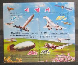 Poštovní známky KLDR 2004 Letadla Mi# Block 600 - zvětšit obrázek