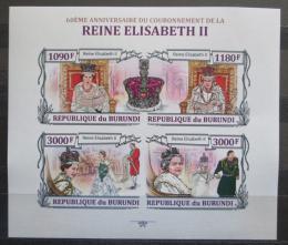 Poštovní známky Burundi 2013 Královna Alžběta II. neperf. Mi# 3173-76 B - zvětšit obrázek