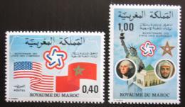 Poštovní známky Maroko 1976 Americká revoluce, 200. výročí Mi# 838-39 - zvětšit obrázek