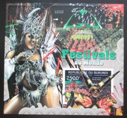 Poštovní známka Burundi 2012 Světové festivaly neperf. Mi# Block 266 B - zvětšit obrázek