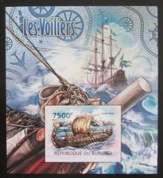 Poštovní známka Burundi 2012 Vikingské lodě neperf. Mi# Block 229 B - zvětšit obrázek