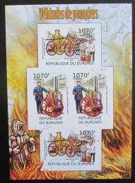Poštovní známky Burundi 2012 Hasiči DELUXE neperf. Mi# 2421,2423 B Block - zvětšit obrázek