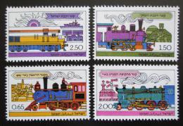 Poštovní známky Izrael 1977 Lokomotivy Mi# 722-25 - zvětšit obrázek