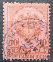 Poštovní známka Kolumbie 1892 Státní znak Mi# 111 - zvětšit obrázek