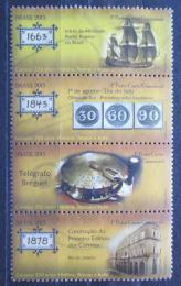 Poštovní známky Brazílie 2015 Pošta, 350. výročí Mi# 4058-61 - zvětšit obrázek