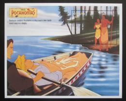 Poštovní známka Guyana 1995 Disney, Pocahontas Mi# Block 475 - zvětšit obrázek