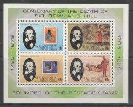 Poštovní známky Zambie 1979 Rowland Hill Mi# Block 6 - zvětšit obrázek