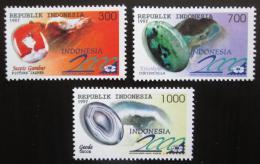 Poštovní známky Indonésie 1997 Drahokamy Mi# 1695-97 - zvětšit obrázek
