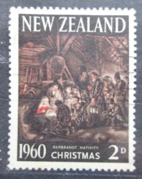 Poštovní známka Nový Zéland 1960 Vánoce, umění, van Rijn Mi# 415 - zvětšit obrázek