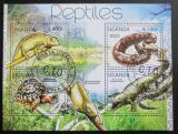 Poštovní známky Uganda 2012 Plazi Mi# 2780-83 Kat 13€