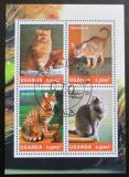 Poštovní známky Uganda 2014 Kočky Mi# 3305-08 Kat 12€