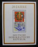 Poštovní známky DDR 1969 Výročí vzniku republiky Mi# Block 28