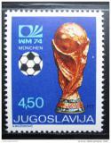 Poštovní známka Jugoslávie 1974 MS ve fotbale Mi# 1567