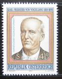 Poštovní známka Rakousko 1990 Karl Freiherr von Vogelsang Mi# 2008