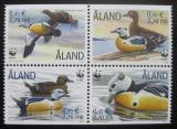 Poštovní známky Alandy 2001 Kajka Stellerova, WWF 282 Mi# 183-86