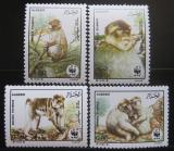 Poštovní známky Alžírsko 1988 Magot bezocasý, WWF 069 Mi# 972-75