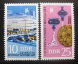 Poštovní známky DDR 1977 Lipský veletrh Mi# 2250-51