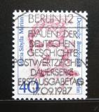 Poštovní známka Západní Berlín 1987 Maria S. Merian, malířka Mi# 788