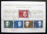 Poštovní známka Německo 1959 Skladatelé Mi# Block 2