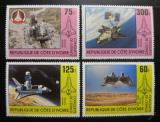 Poštovní známky Pobřeží Slonoviny 1981 Průzkum vesmíru Mi# 680-83