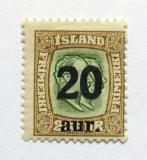 Poštovní známka Island 1922 Králové přetisk Mi# 108