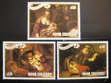 Poštovní známky Cookovy ostrovy 1987 Umění Mi# 1249-51