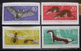 Poštovní známky DDR 1962 Chráněná zvířata Mi# 869-72