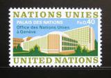 Poštovní známka OSN Ženeva 1972 Palác národů Mi# 22