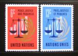 Poštovní známky OSN New York 1970 Mír a spravedlnost Mi# 229-30