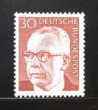 Poštovní známka Německo 1971 Prezident Heinemann Mi# 638