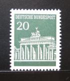 Poštovní známka Německo 1967 Brandenburská brána Mi# 507