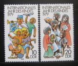 Poštovní známky DDR 1979 Mezinárodní rok dětí Mi# 2422-23